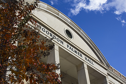 front of Gordon Palmer Hall