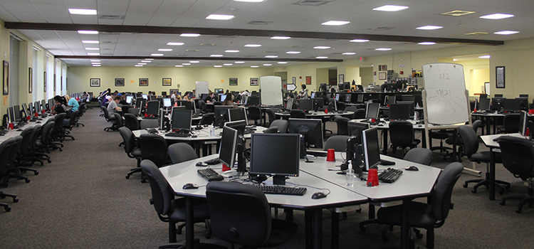 The MTLC computer lab/tutoring center, open over 60 hours per week, combines one-on-one tutoring and technology to allow students to work at their own pace and receive instant feedback and encouragement.