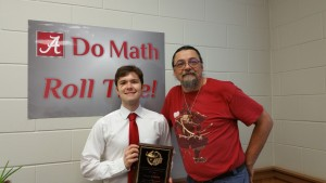 B.B. Comer Math Prize winner Dan Brown and Chairperson David Cruz-Uribe