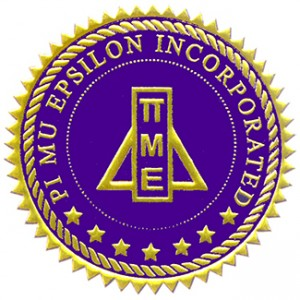 seal of Pi Mu Epsilon honor society