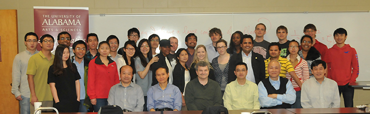 group of graduate students and faculty