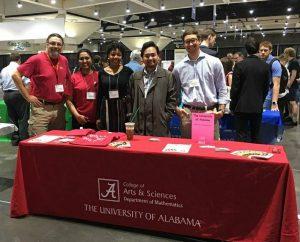 Students and Faculty at Math Meetings Graduate Fair