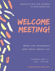 Welcome Meeting flyer