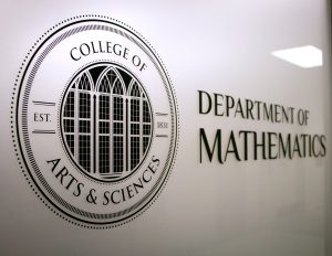 College of Arts and Sciences Department of Mathematics