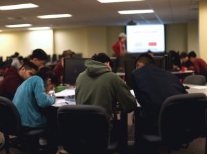 high school students compete in the annual math tournament